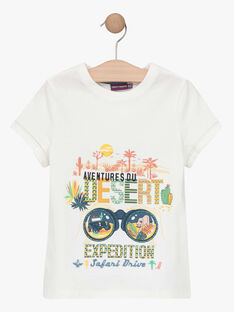 Kurzärmeliges T-Shirt für Jungen, ecru TOFIAGE / 20E3PGQ1TMC001