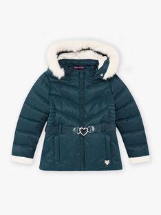 Baby Mädchen Ente blaue Jacke mit Herz Gürtel BLODODETTE2 / 21H2PFE2D3E714