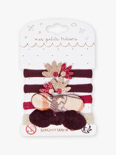 4 sortierte Gummibänder für Mädchen BIPOUPETTE / 21H4PFT4ELAD302