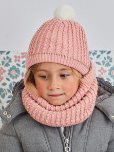 Blassrosa Strickmütze für Baby-Mädchen BLODAETTE / 21H4PFD1BOND300