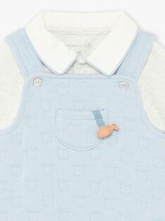 Baby-Jungen-Latzhose, Bodys und Socken mit Teddybär-Druck BOON / 21H0CGK2ENS219