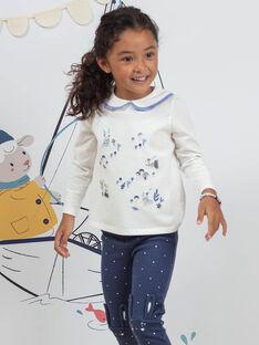 Ecru T-Shirt mit Kaninchen Druck für Mädchen BYCOLETTE / 21H2PFL1TML001