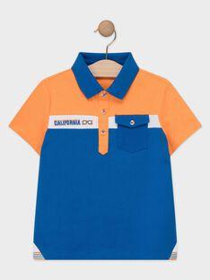 Poloshirt für Jungen, orange und blau TEBRUAGE / 20E3PGG1POL400