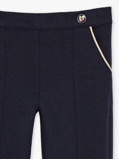 Marineblaue Hose für Baby-Mädchen mit Abnähern BEMILETTE2 / 21H2PF51PAN070