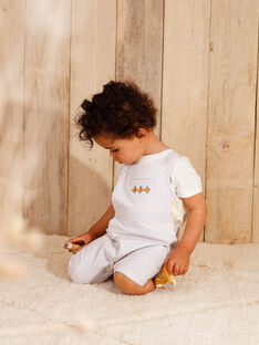 Kurze Latzhose hellgrau Baby Junge ZAMATHIS / 21E1BGO1SACJ920