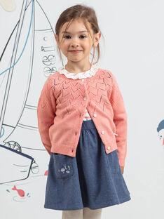 Langarm rosa Strickjacke mit Kaninchen Muster Kind Mädchen BYCARETTE / 21H2PFL1CAR415