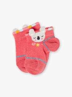 Rosa Baby-Socken Mädchen TAVITA / 20E4BFX1SOBF507