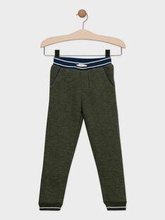Khakifarbene Fleece-Hosen für Jungen SETAGE / 19H3PGI4PAN609