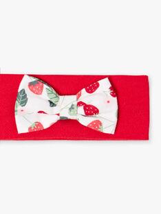 Rotes, elastisches Stirnband ZAAMIE / 21E4BFJ2BANF505