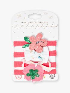 Set aus 4 sortierten Gummibändern für Kinder und Mädchen ZYWAETTE / 21E4PF81ELAD311