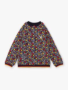 Langärmelige Strickjacke für Mädchen mit Blumendruck BITODETTE / 21H2PF52CAR070