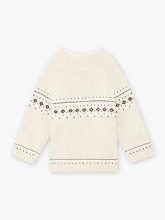 Baby Boy's Beige Jacquard Kaninchen Pullover BASEANNY / 21H1BGO1PULA011