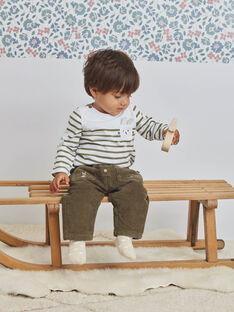 Baby Boy Khaki Kordtaschenhose BASERGIO / 21H1BGO3PAN612