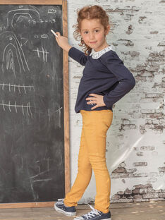 Gelbe Hose für Mädchen BROSAETTE3 / 21H2PFB6PANB106