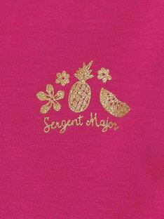 Rosa kurzärmeliges T-Shirt RUFAPETTE 6 / 19E2PFQ2TMCD302