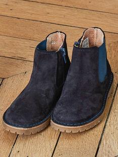 Boots chelsea bleu marine cuir enfant garçon BACHELSAGE / 21F10PG41D0D070