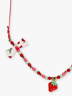 Halskette mit Erdbeer-Anhänger ZOCOLETTE / 21E4PFZ1CLIF505