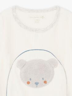 Samt-Teddybär-Strampler und Mütze für Jungen BOCKE B / 21H0NGK1GRE001