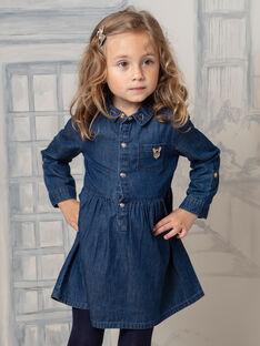 Kleid aus blauem Jeansstoff für Mädchen BIDENETTE / 21H2PF52ROBP274