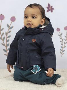 Baby Junge Marineblauer Regenmantel mit Kapuze BIMARTIN / 21H1BGC2IMP070