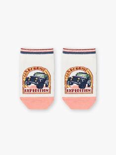 Niedrige Socken für Jungen in Ecru und Rosa TOSOCAGE / 20E4PGQ1SOB001