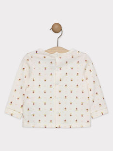 Weißes T-Shirt bedruckt Baby Mädchen SAGISELE / 19H1BF61TML001