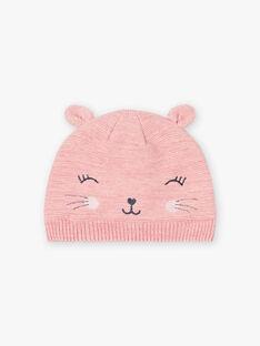 Baby Mädchen rosa Katze Hut BLOZAETTE / 21H4PFD3BOND314