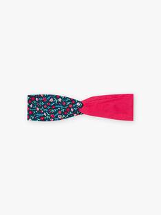 Rosa und blaues Stirnband für Mädchen mit Blumendruck BUBELETTE / 21H4PFS9TET310