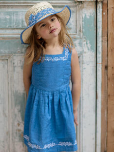 Wendbares lavendelblaues Kleid mit floralen Motiven für Kinder und Mädchen ZUREVETTE / 21E2PFT1CHSC208