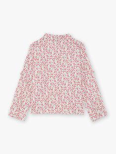 Langarm-Shirt für Mädchen mit Blumendruck BAFERETTE / 21H2PF11CHE001
