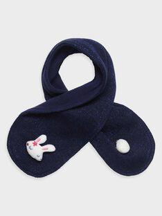 Baby-Schal glatt rechts gestrickt für Mädchen, marineblau TADIANE / 20E4BFC1ECH070