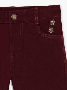 Rote Hose für Jungen BEXOTAGE / 21H3PG91PANF511