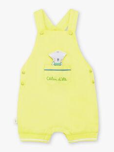Kurze grün-gelbe Baby-Latzhose für Jungen TAWAYATT / 20E1BGX1SACG628
