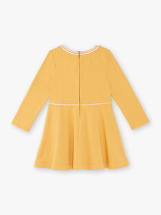 Senfgelbes Kleid Kind Mädchen ZLOMETTE3 / 21E2PFK6ROBB106
