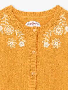 Baby Mädchen Senf Weste mit floraler Stickerei BUCARETTE / 21H2PFJ1CAR804