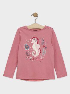 Rosa Fantasie-T-Shirt mit plissiertem Rücken Mädchen SYANETTE / 19H2PFE1TML307