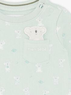 Grün und ecru bedrucktes Sweatshirt ZAASHER / 21E1BG71SWEG619