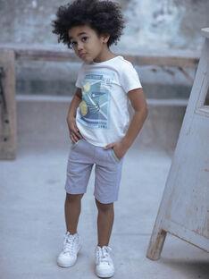Graue Bermudashorts Junge ZEMAGE / 21E3PGO2BERJ904