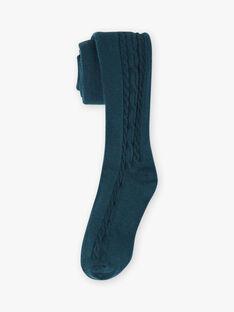 Einfarbige blaue Entenstrickstrumpfhose für Mädchen BROSUETTE 6 / 21H4PFF3COT714
