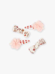 Set mit 4 passenden Blumen- und Schleifen-Haarspangen für Mädchen BUCHAPETTE / 21H4PFS7BRT821