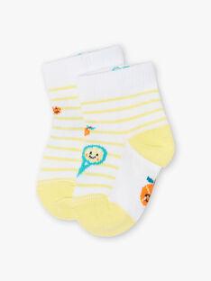 Gelbe und weiße Baby-Jungen-Socken ZAMAX / 21E4BGO1SOQB104