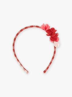 Stirnband für Mädchen mit Karos und Blumen BOTOTETTE / 21H4PFS4TET821