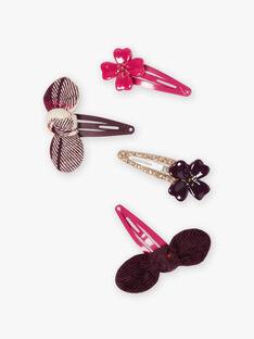 4 passende Blumen- und Schleifen-Haarspangen für Mädchen BLICORNETTE / 21H4PFT7BRTD307