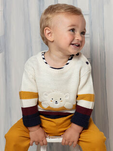 Baby Boy's Beige & Gelb Strickpullover BAFLO / 21H1BG51PUL801