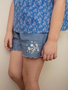 Bestickte Denim-Shorts Mädchen Kind ZUCHETTE / 21E2PFT1SHO721