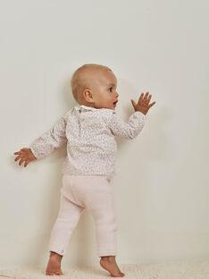 Popeline-Blusen-body und Hose mit Blumendruck in Rosa für Mädchen BOLEONIE / 21H0CFK2ENS301