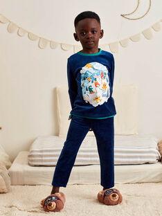Pyjama-Set für Jungen aus Samt mit Monstern auf Skiern BISKIAGE / 21H5PG72PYJ717