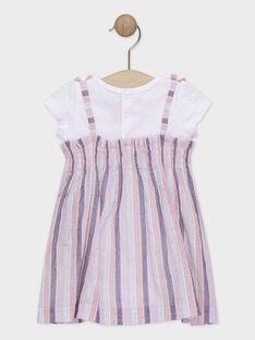 Baby-Kleid im Materialmix für Mädchen TAQORALIE / 20E1BFP2ROBD323