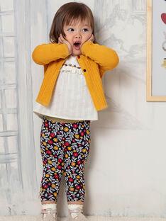Baby Mädchen navy blau und weiß Blumendruck Leggings BAELINA / 21H4BF51CAL070