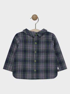 Baumwoll-Canvas-Hemd mit Karomuster Baby Junge SAMAURICE / 19H1BGC2CHM705
